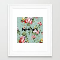 clueless Framed Art Prints featuring Whatever Clueless  by Crimson and Clover Studio