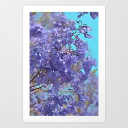 Purple and Blue Party! Art Print