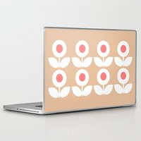 gemma correll Laptop & iPad Skins featuring MCM Bloomin' Benaud...the cream, the bone, the white, the off-white, the ivory and the beige by Lisa Jayne Murray - Illustration