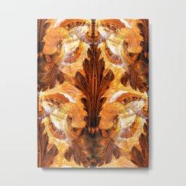 Golden Ornate Pattern Metal Print