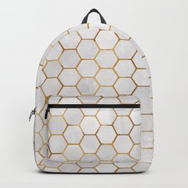 Geometric Hexagonal Pattern Backpack