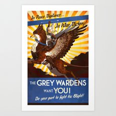 In Peace, Vigilance -- In War, Victory! Art Print