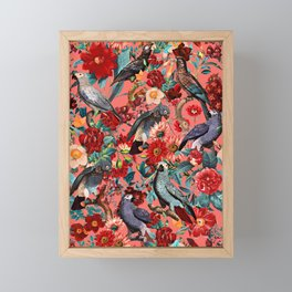 FLORAL AND BIRDS XIX Framed Mini Art Print