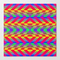 psychedelic Canvas Prints featuring Psychedelic by Texture