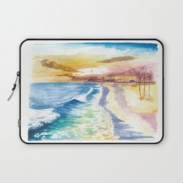 Santa Monica Pier in Golden Californian Sun Laptop Sleeve