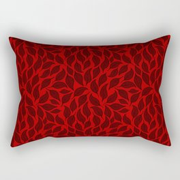 V.12 - Striated Leaves - Old Autumn Foliage Rectangular Pillow