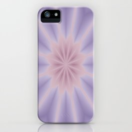 Pink and Lilac 3D Flower Three iPhone Case