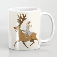 thranduil Mugs featuring Fabulous Thranduil by Angela Taratuta