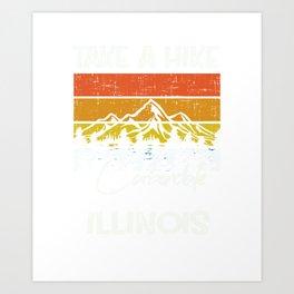 Carbondale Illinois Vintage Take A Hike Art Print