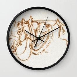 Head of a rigged horse by Jean Bernard (1775-1883) Wall Clock