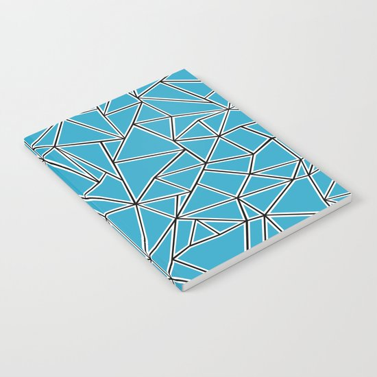Shattered Ab Blue Notebook
