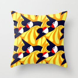 Sparrows by Roxanne Bartlett Throw Pillow