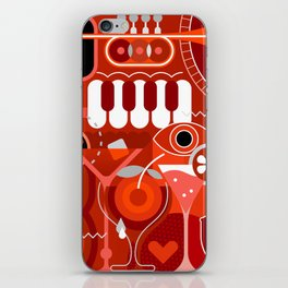 Music and Cocktail Party iPhone Skin