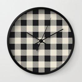 Buffalo Plaid Wall Clock