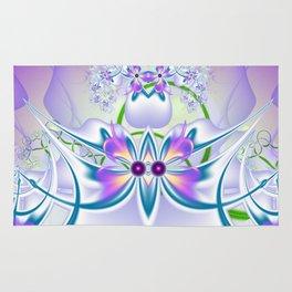 Vilolet flower Rug