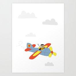 Plane Ride Art Print