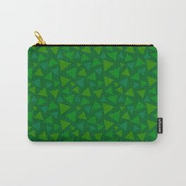 animal crossing floor patterns tri deep Green Carry-All Pouch
