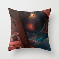 sci fi Throw Pillows featuring Sci-Fi by Lyle Hatch