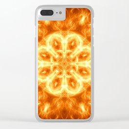 Inferno Mandala Clear iPhone Case