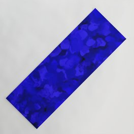 Rich Cobalt Blue Abstract Yoga Mat