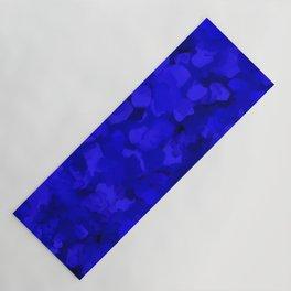 Rich Cobalt Blue Abstract Yoga Mat