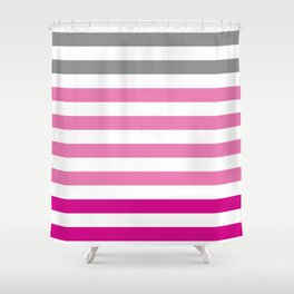 Stripes Gradient - Pink Shower Curtain