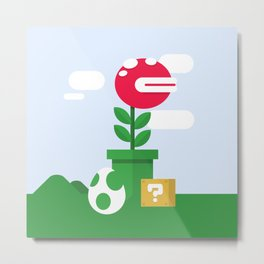 Pirahna Plant - Super Mario World Metal Print