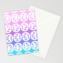 Mangopare Kowhaiwhai design in blues to pinks Stationery Cards