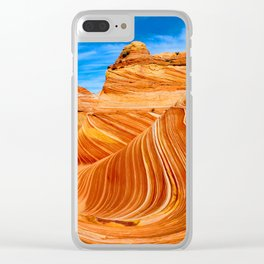 Blue & Brown Nature Clear iPhone Case
