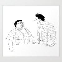 seinfeld Art Prints featuring Seinfeld by visualinterpreter