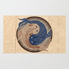 shuiwudáo yin yang mandala Rug
