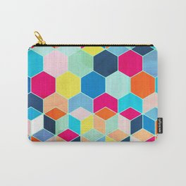 Super Bright Color Fun Hexagon Pattern Carry-All Pouch