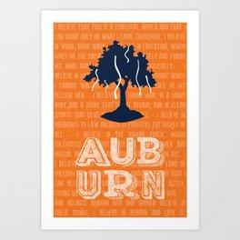 Auburn Creed Art Print