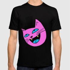 Herro Cat SMALL Black Mens Fitted Tee