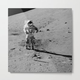 Apollo 17 - Commander Gene Cernan Metal Print