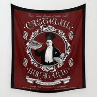 """chef Wall Tapestries featuring Chef Dracula's Restaurant: """"Every BITE Guaranteed to ENTHRALL"""" by ImpART by Torg"""