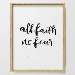 All Faith / No Fear Serving Tray