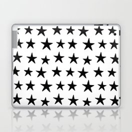 Star Pattern Black On White Laptop & iPad Skin