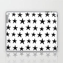 Star Pattern Black On White Laptop & iPad Skin