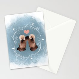 Otter Love Stationery Cards