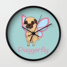 Puggerfly Wall Clock