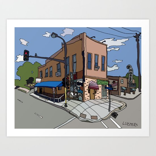 331 Club, Jon Oulman Salon, Modern Cafe - Minneapolis Art Print