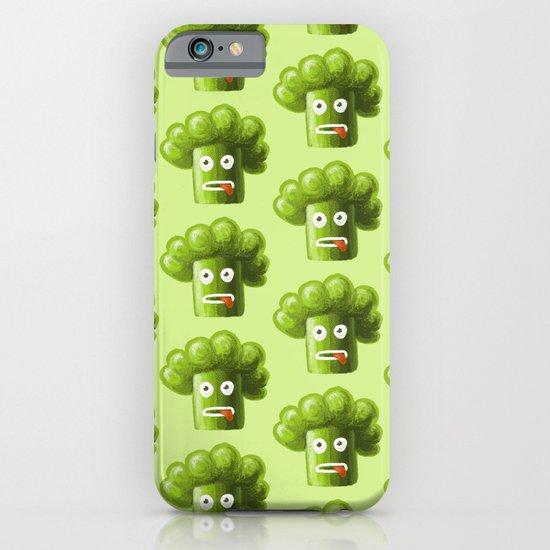 Green Funny Cartoon Broccoli iPhone & iPod Case