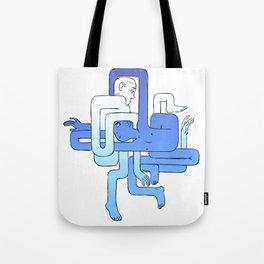 Blue Tubos Tote Bag