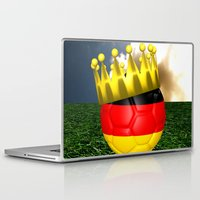world cup Laptop & iPad Skins featuring World Cup Champion 2014 by Littlebell