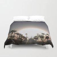 coachella Duvet Covers featuring Coachella Ferris wheel by Annaelle