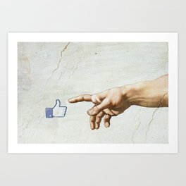 The creation. It's only Adam (But I Like It) Art Print
