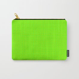 Lime On Lemon Grid Carry-All Pouch