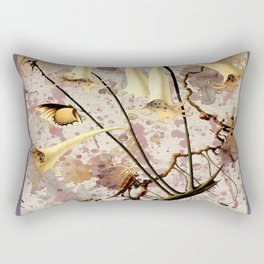 Franz Sedlacek Blooms And Insects III Rectangular Pillow