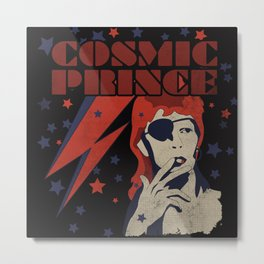 COSMIC PRINCE BLACK Metal Print